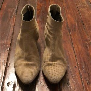 Suede ankle boots, lightly worn.
